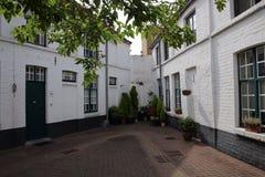 Bruges, Belgio, case bianche immagine stock libera da diritti