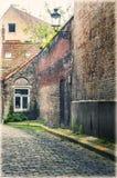 Bruges, Belgio Vicolo stretto Immagine Stock