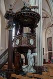 BRUGES, BELGIQUE L'EUROPE - 25 SEPTEMBRE : Vue intérieure de St SA Images stock