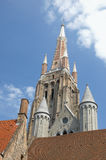 Bruges, Belgium. Church of Our Lady, landmark from Bruges, Belgium stock photography
