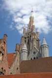 Bruges, Belgium. Church of Our Lady, landmark from Bruges, Belgium stock images
