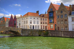 Bruges, Belgium. View of the canals of Bruges (Brugge) in Belgium, beautiful medieval city Royalty Free Stock Images
