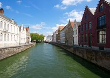 Bruges, Belgium. View of the canals of Bruges (Brugge) in Belgium, beautiful medieval city Royalty Free Stock Photo