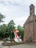 Bruges Belgium Airplane Monument Royalty Free Stock Photography