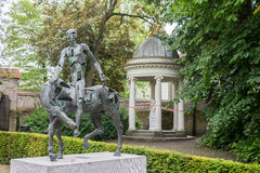 Bruges Belgium Equestrian Monument Royalty Free Stock Photo