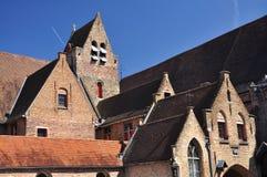 Bruges, Belgium. Brick Flemish architecture Stock Photo