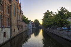 Bruges Belgium Canal Buildings Stock Photo