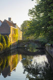 BRuges Belgium Canal Sunrise Morning Royalty Free Stock Photo