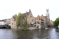 Bruges, Belgium. Bruges, the capital of West Flanders in northwest Belgium, is distinguished by its canals, cobbled streets and medieval buildings. Its port Royalty Free Stock Photos