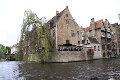 Bruges, Belgium. Bruges, the capital of West Flanders in northwest Belgium, is distinguished by its canals, cobbled streets and medieval buildings. Its port Royalty Free Stock Photography