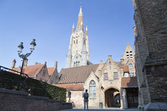 Bruges, Belgium. Church of Our Lady ( Stock Photography