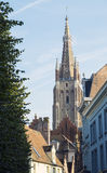 Bruges, Belgium. Church of Our Lady  Stock Photos