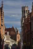 Bruges, Belgium. City lane and traditional architecture Stock Photography