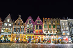 BRUGES, BELGIUM - DECEMBER 05 2016 - Christmas Old Market square in Bruges Royalty Free Stock Images