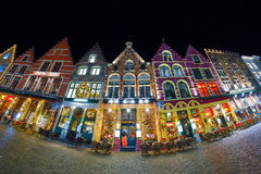 BRUGES, BELGIUM - DECEMBER 05 2016 - Christmas Old Market square in Bruges Stock Image