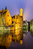 Bruges, Belgium at dusk. Royalty Free Stock Photos