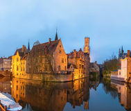 Bruges, Belgium at dusk. Stock Photography