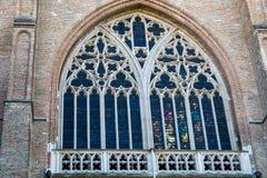 BRUGES BELGIUM/EUROPA, WRZESIEŃ 25, -: Witrażu okno wewnątrz Fotografia Royalty Free