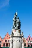 BRUGES BELGIUM/EUROPA, WRZESIEŃ 25, -: Jan Breydel i Peter d Zdjęcia Royalty Free
