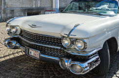 BRUGES, BELGIUM/ EUROPE - SEPTEMBER 25: Cadillac wedding car  in Royalty Free Stock Photo