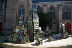 BRUGES, BELGIUM/ EUROPE - SEPTEMBER 25:  Modern sculpture outsid Royalty Free Stock Images