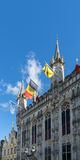 BRUGES, BELGIUM/ EUROPE - SEPTEMBER 25: Provincial Palace in Mar Stock Photography