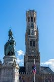 BRUGES, BELGIUM/ EUROPE - SEPTEMBER 25: View towards the Belfry Stock Photos