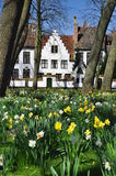 Bruges, Belgium. Flemish old architecture in spring Royalty Free Stock Photo