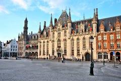 Bruges, Belgium, the historic Court building in Markt Square stock photos