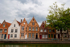 Bruges, Belgium, houses along the channel Stock Image