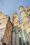 Bruges in Belgium the Medieval City Town European Stock Images