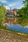 Bruges, Belgium, Minnewater lake Stock Photo