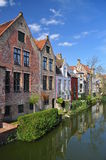 Bruges, Belgium. Old canal front buildings Royalty Free Stock Images