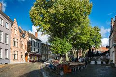 The city of Bruges in Belgium Royalty Free Stock Photo