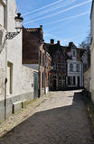 Bruges, Belgium. Small alley and Flemish architecture Stock Image