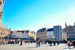 Bruges Belgium. A view from the city of Bruges, Belgium Stock Image