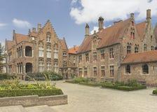Bruges, Belgium. Yard of old St. John's Hospital which is an 11th-century hospital in Bruges, Belgium Royalty Free Stock Images