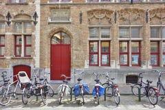 Bruges Bicyles Photographie stock libre de droits