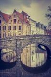 Bruges - Bruges - Brugghe - ponte fotos de stock royalty free
