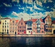 Bruges (Brugge), Belgien Arkivbilder