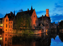 Bruges by Night, Belgium Royalty Free Stock Image