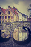 Bruges - Brugge - Brugghe - Bridge Royalty Free Stock Photos