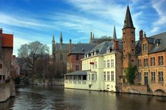 Bruges, brugge, the canal. Stock Image