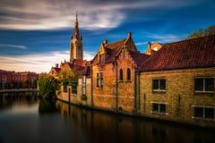 Bruges Brugge i holländsk stad i Belgien royaltyfri fotografi