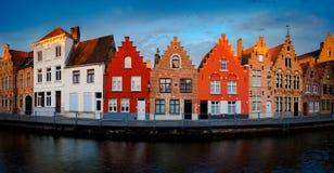 Bruges Brugge i holländsk stad i Belgien royaltyfria bilder