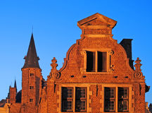 Bruges, building at dusk Stock Photo