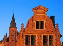 Bruges, building at dusk Stock Photo