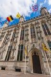 Bruges, câmara municipal Imagem de Stock