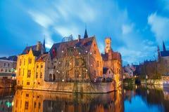Bruges Cais do rosário Foto de Stock