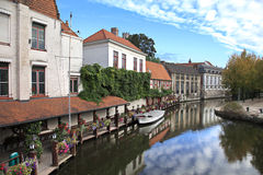 Bruges canal, Belgium Stock Photo